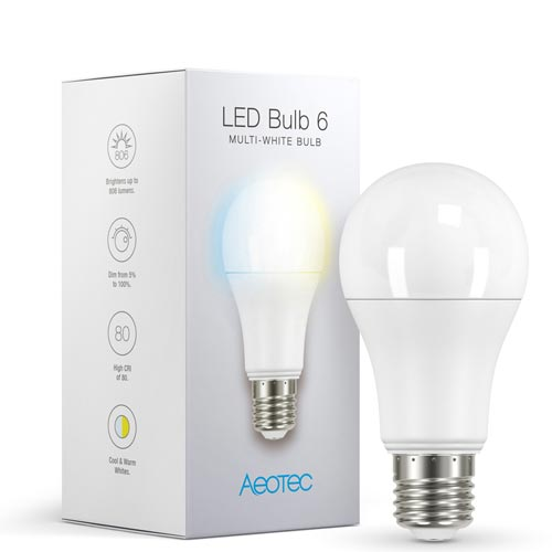 Aeotec Slimme LED Lamp 6 Multi Wit verpakking