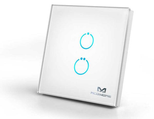 MCO Home Z-Wave Touch schakelaar 2 knoppen