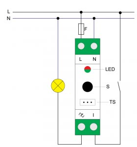 Qubino-DIN-Dimmer-230VAC-Electrisch-Schema