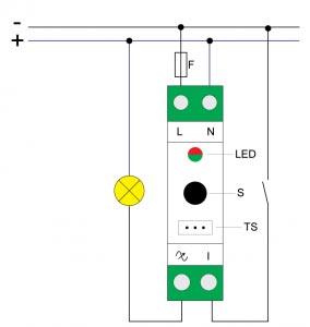 Qubino-DIN-Dimmer-24VDC-Electrisch-Schema