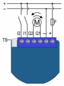Qubino Flush Shutter DC 12-24 VDC layout