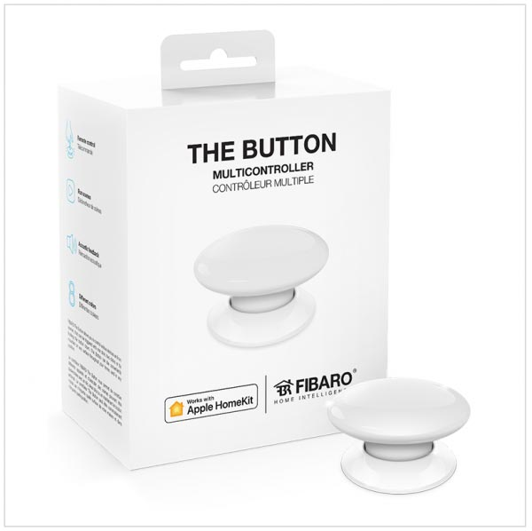 The Button HomeKit Fibaro wit verpakking