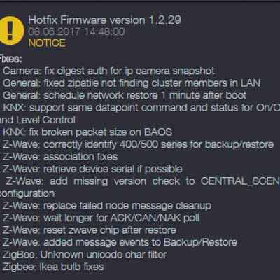 Zipato official Firmware update 1.2.29(m)